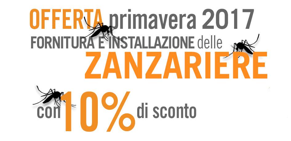10 di sconto su fornitura e installazione zanzariere for Detrazione zanzariere 2017